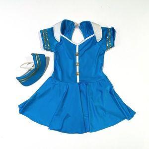 Girls Flight Attendant Dance Costume sz XL 14-16